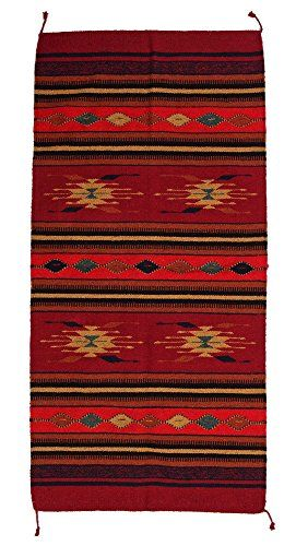 Hand Woven Southwest Style Accent Rug
