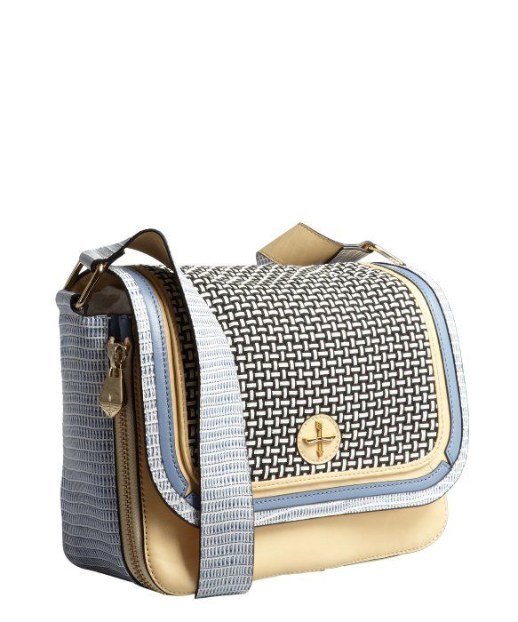 Pour la Victoire french vanilla embossed leather ''Chanteuse' shoulder bag - perfect size, great style/shape, needs more raffia