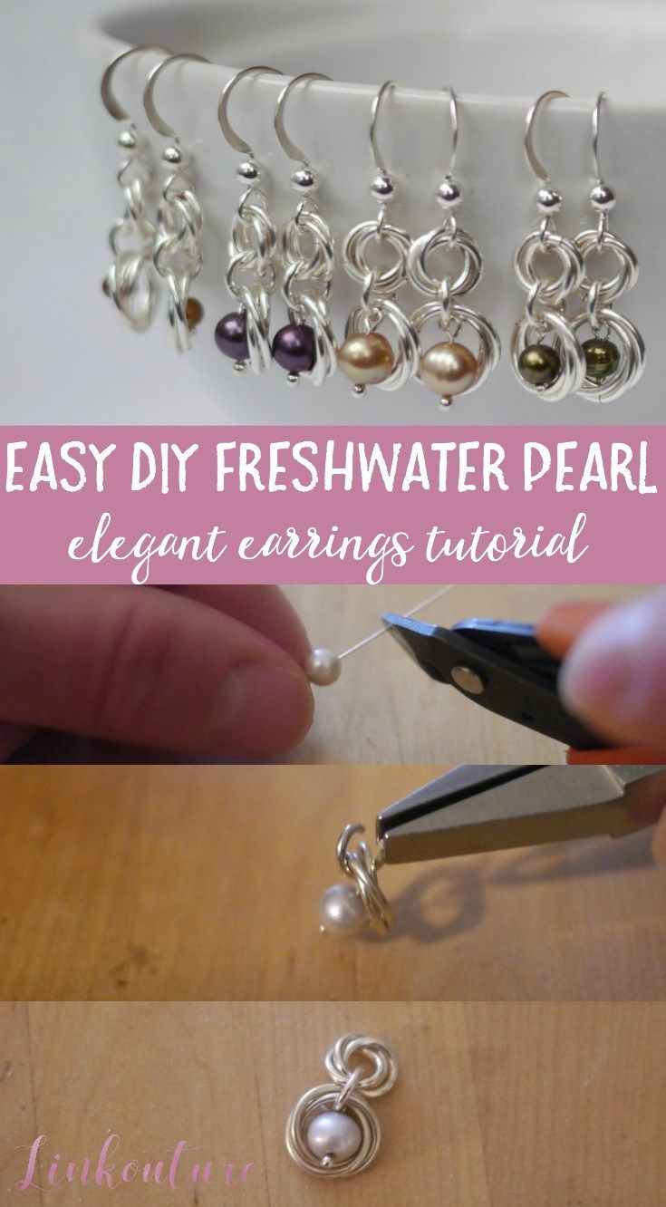 How to make your own elegant freshwater pearl earrings | Pearl ...