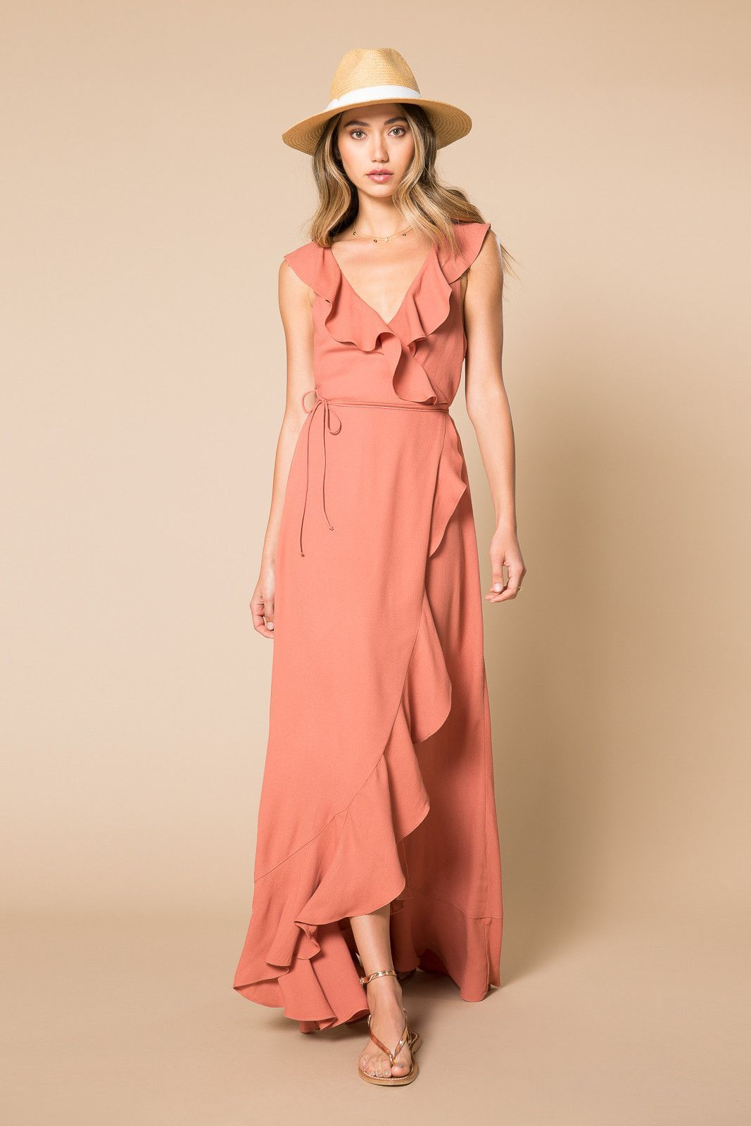 Wade ruffle maxi wrap dress dresses pinterest maxi wrap dress