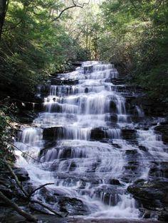 Minnehaha Falls Travel Along 441 Toward Clayton Georgia Minnehaha Falls Waterfall Rabun County