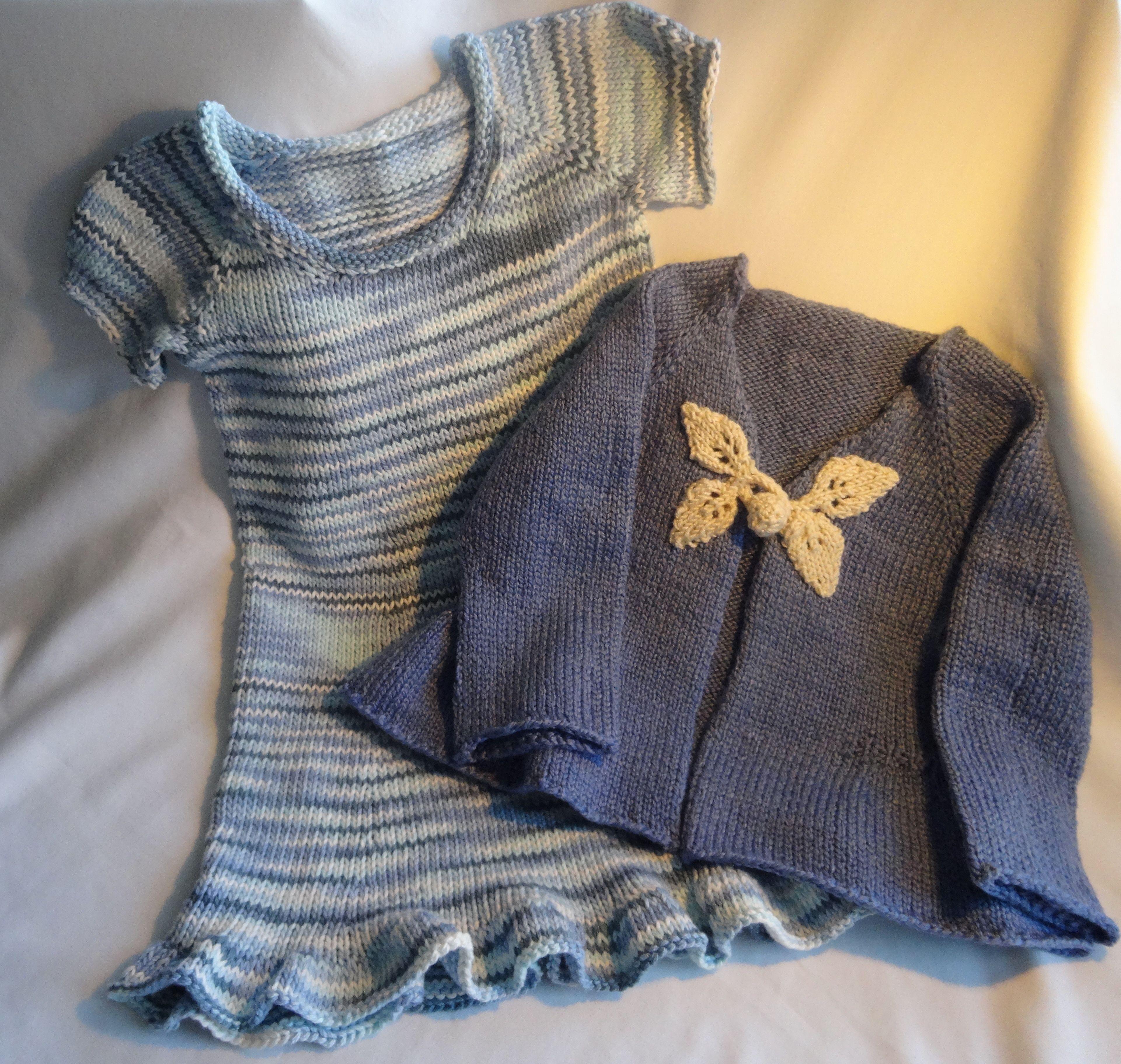Pattern 1: LITTLE GIRLS TOP DOWN DRESS @ Knitting Pure & Simple Yarn ...