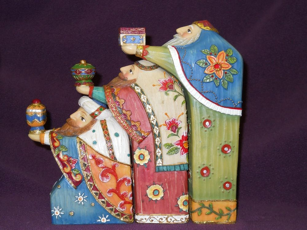 Details About Nativity Nesting Kings Modern And Colorful Roman