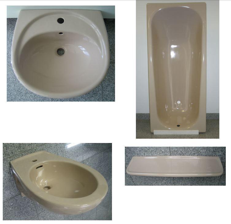 Badezimmer Set In Der Farbe Beige Mit Folgenden 4 Bestandteilen