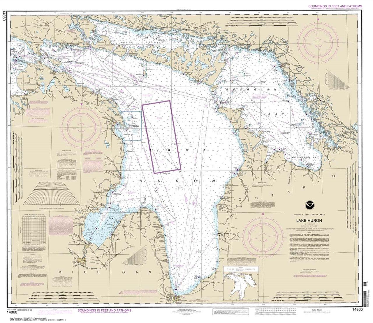 Lake Huron Nautical Chart