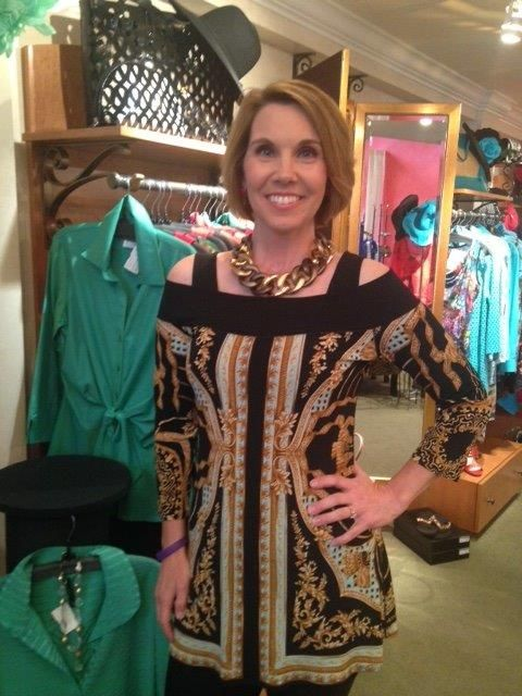 #PONO Alchemy Ana Choker in Ginger. @Karan Dannenberg Clothier. Michelle Millman of KIRO 7 News Seattle, WA #madeinitaly #fashionjewelry