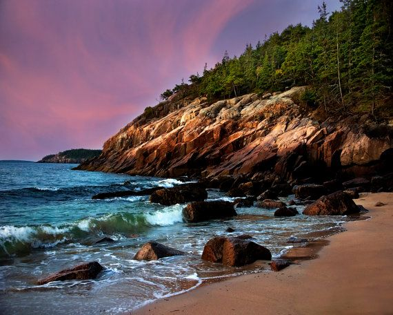 Maine Art Print Maine Coastal Landscape Ocean Beach Photography Coastal Decor Seascape Acadia Magic Coastal Landscape Outdoor Coastal Decor