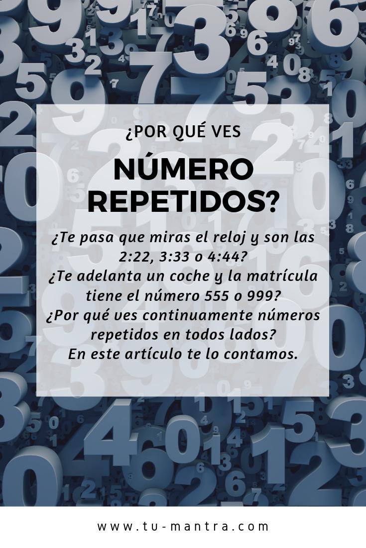 Número Repetidos Numerología Numerologia Significado Biodescodificacion Emocional