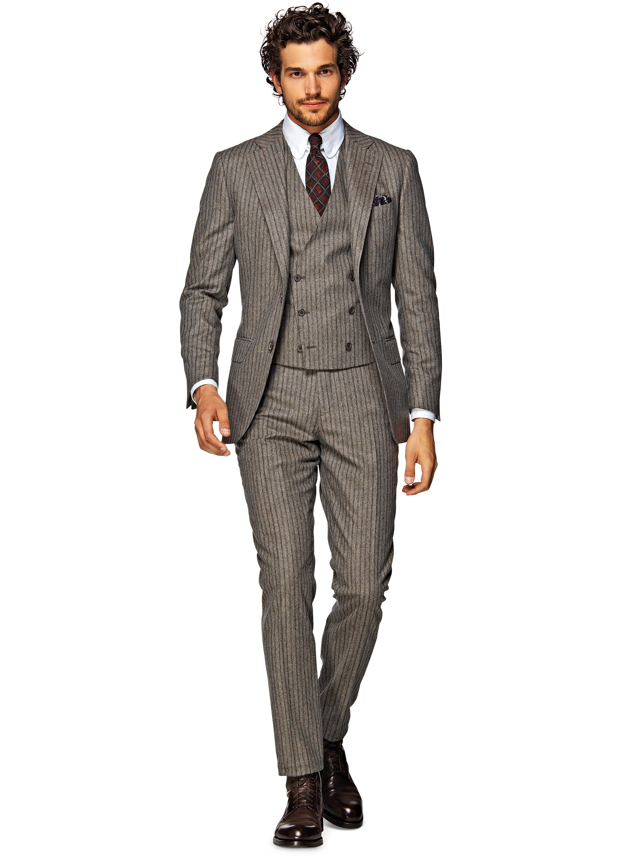 lazio Light Brown Stripe P3681i at Suit Supply | $599 | Suits ...