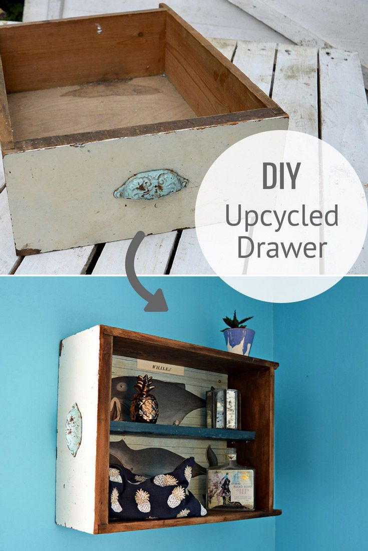 How To Make Unique Wall Unit From Upcycled Drawers | Bathroom wall ...