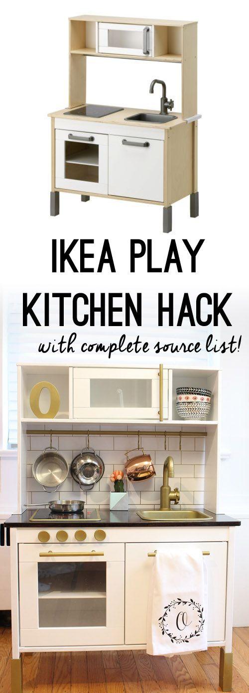 Modern Play Kitchen: IKEA DUKTIG Play Kitchen Hack