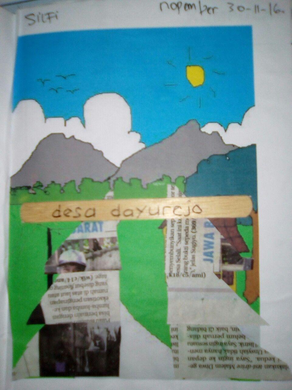 Tema Lingkunganku Subtema Desa Ku Sub Subtema Papan Nama Desa Papan Pedesaan