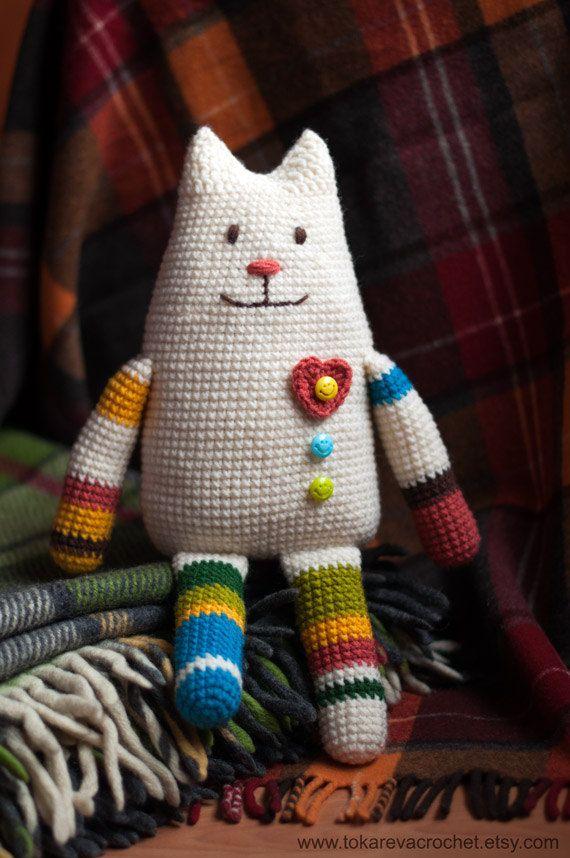Crochet Toy Pattern. Crochet cat. Amigurimi Cat. Amigurumi doll ...