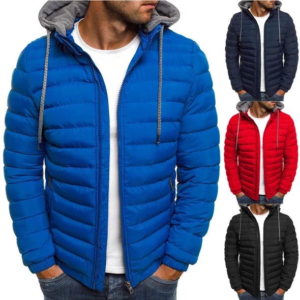 Zogaa New Men Fashion Winter Parkas Coat Hooded Jacket Cotton Casual Warm Overcoat Streetwear Parka Warm Clothes For Men Winter Jacket Men Winter Coat Parka