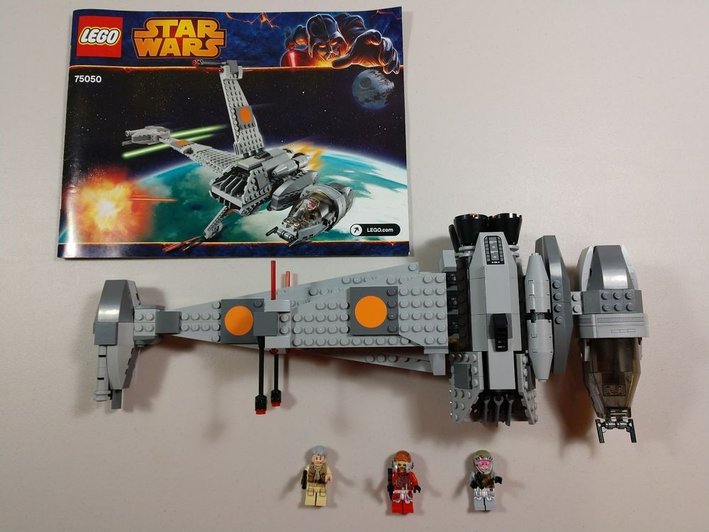 Star Wars Lego 75050 B-Wing 100% Complete all figures Instructions ...