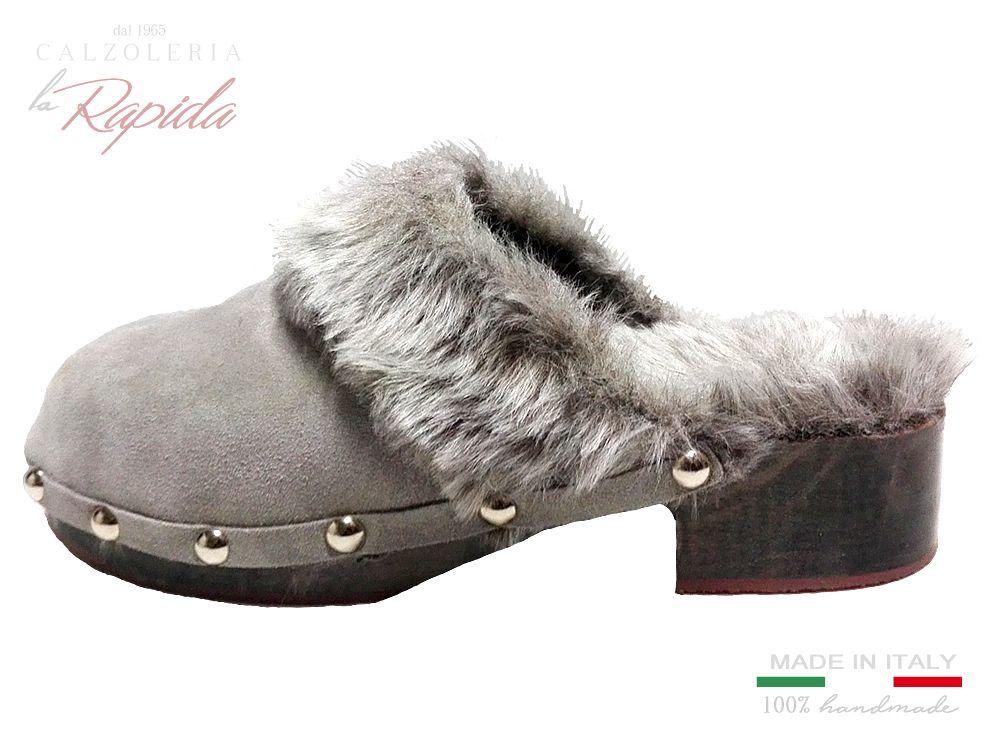 Photo of ► Ciabatte Pantofole con pelo da donna invernali in pelle | LA RAPIDA