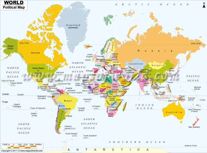 World map showing all the countries of the world with political world map showing all the countries of the world with political boundaries world maps pinterest gumiabroncs Gallery