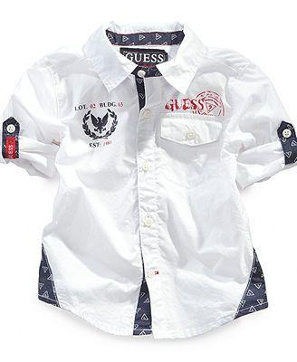 c9b4481252bd GUESS Baby Boys  Woven Shirt