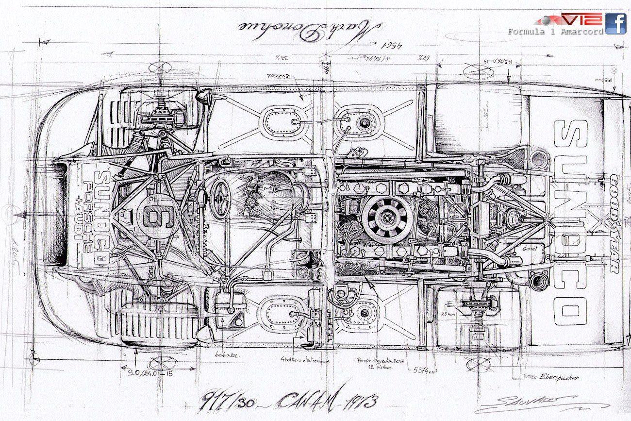 porsche 997 turbo porsche cars cutaway mechanical art car illustration classic [ 1300 x 867 Pixel ]