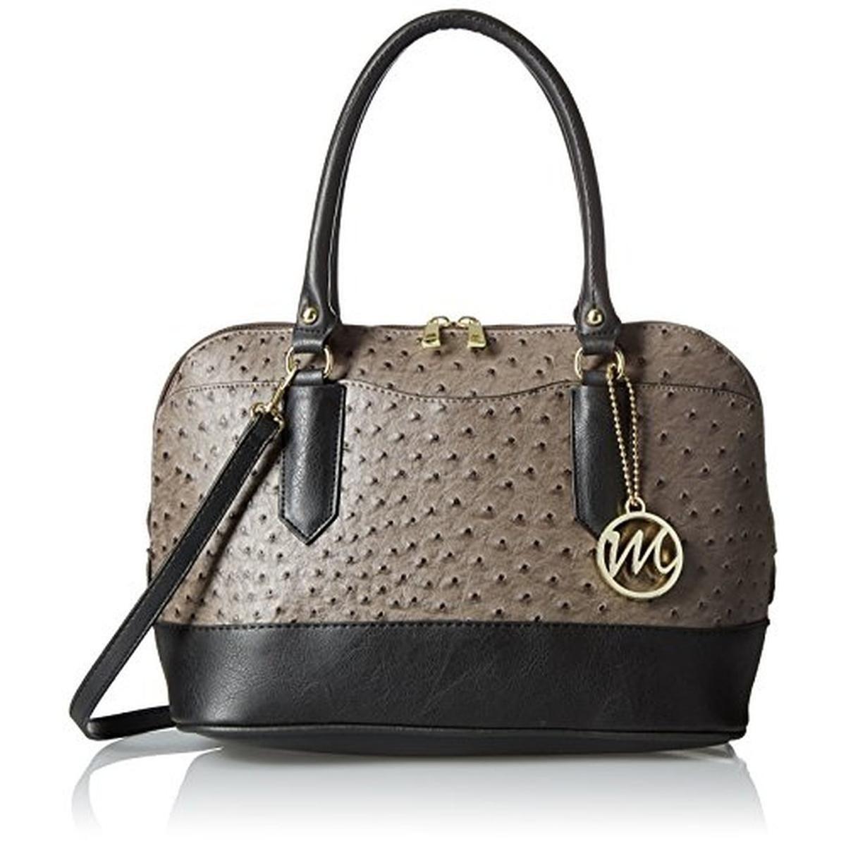 EMILIE-M- Linda Gray Faux Ostrich Satchel Handbag Purse MEDIUM ...