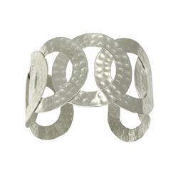 Hammered circle cuff I bought  from World Finds.  World works with artisan groups in India, Indonesia, Vietnam & Nepal to create fair trade jewelry, accessories, knitwear & ornaments. They are committed to fair trade practices. Check them  out!