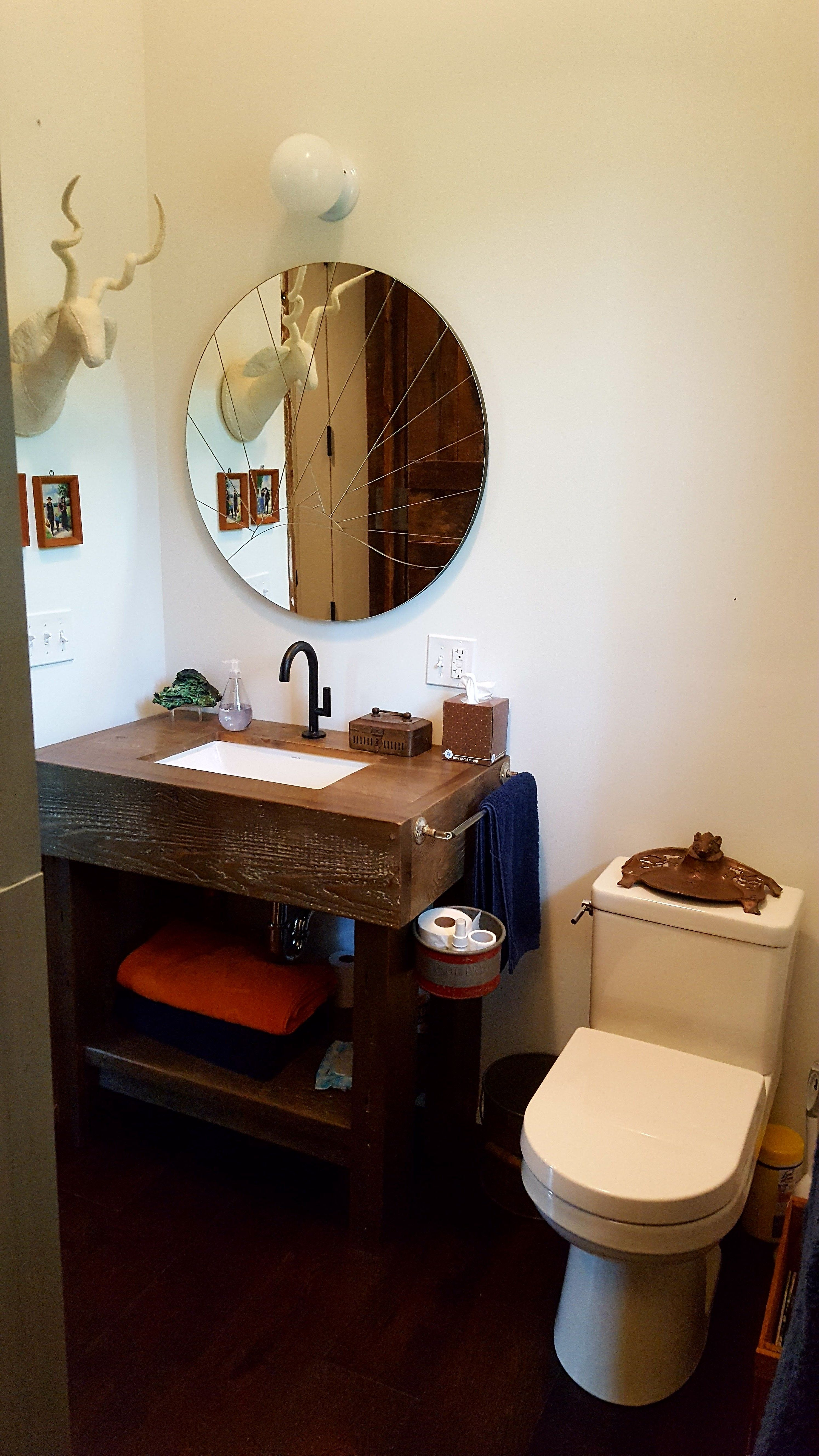 Rustic Bath With Jason Wu Black Faucet And Gerber Wicker