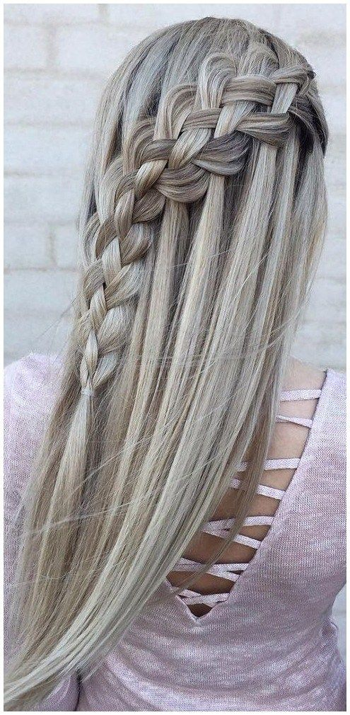 Flechtfrisuren Lange Haare Einfach Meine Traum Wasserfall Friseur Frisuren Hair Styles Wedding Hairstyles For Long Hair Long Hair Styles