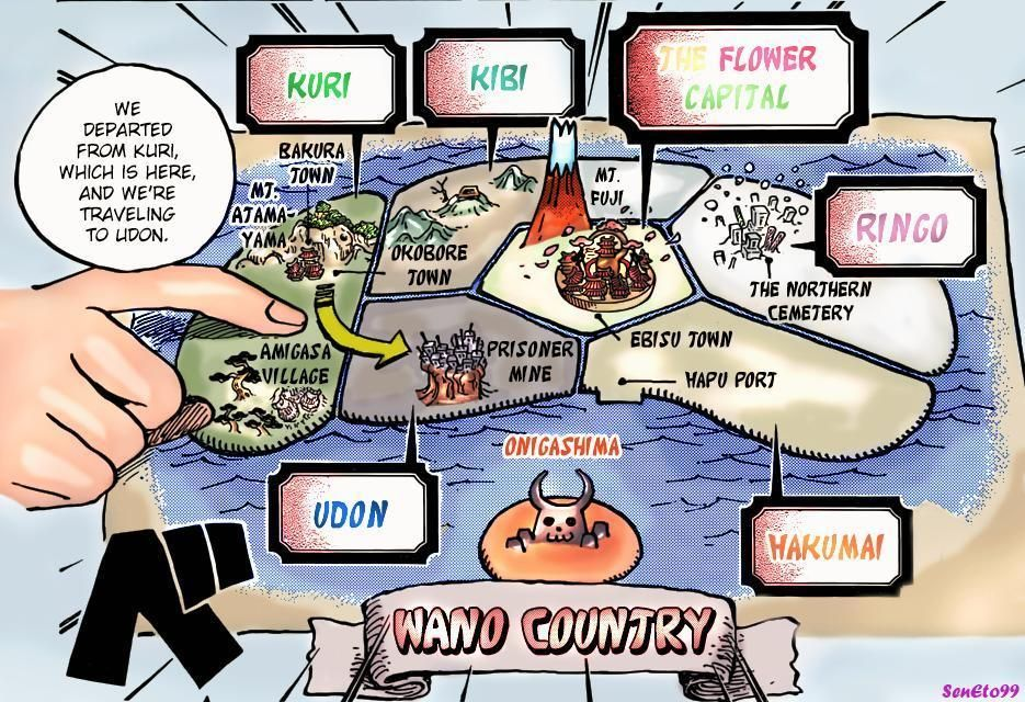 One Piece Reveals The Map Of Wano Big Mom Pirates Map