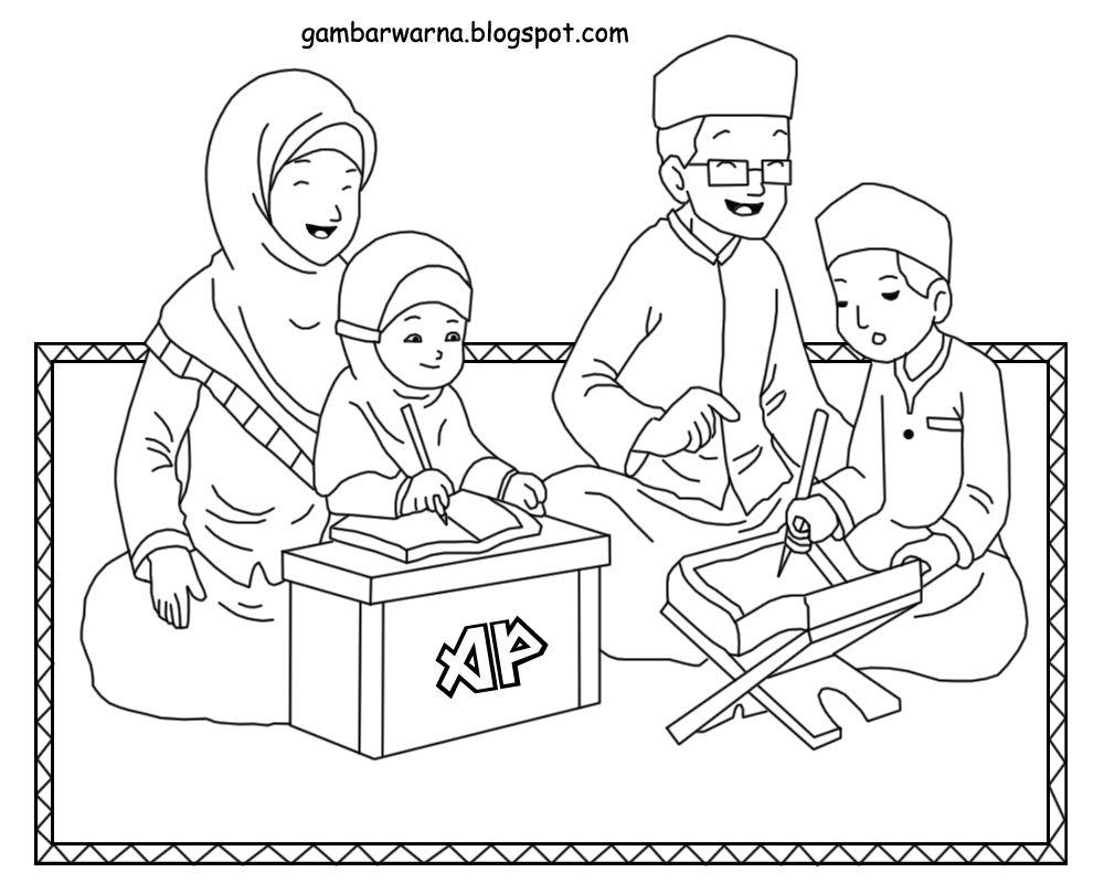 Download Sketsa Gambar Bertema Keluarga