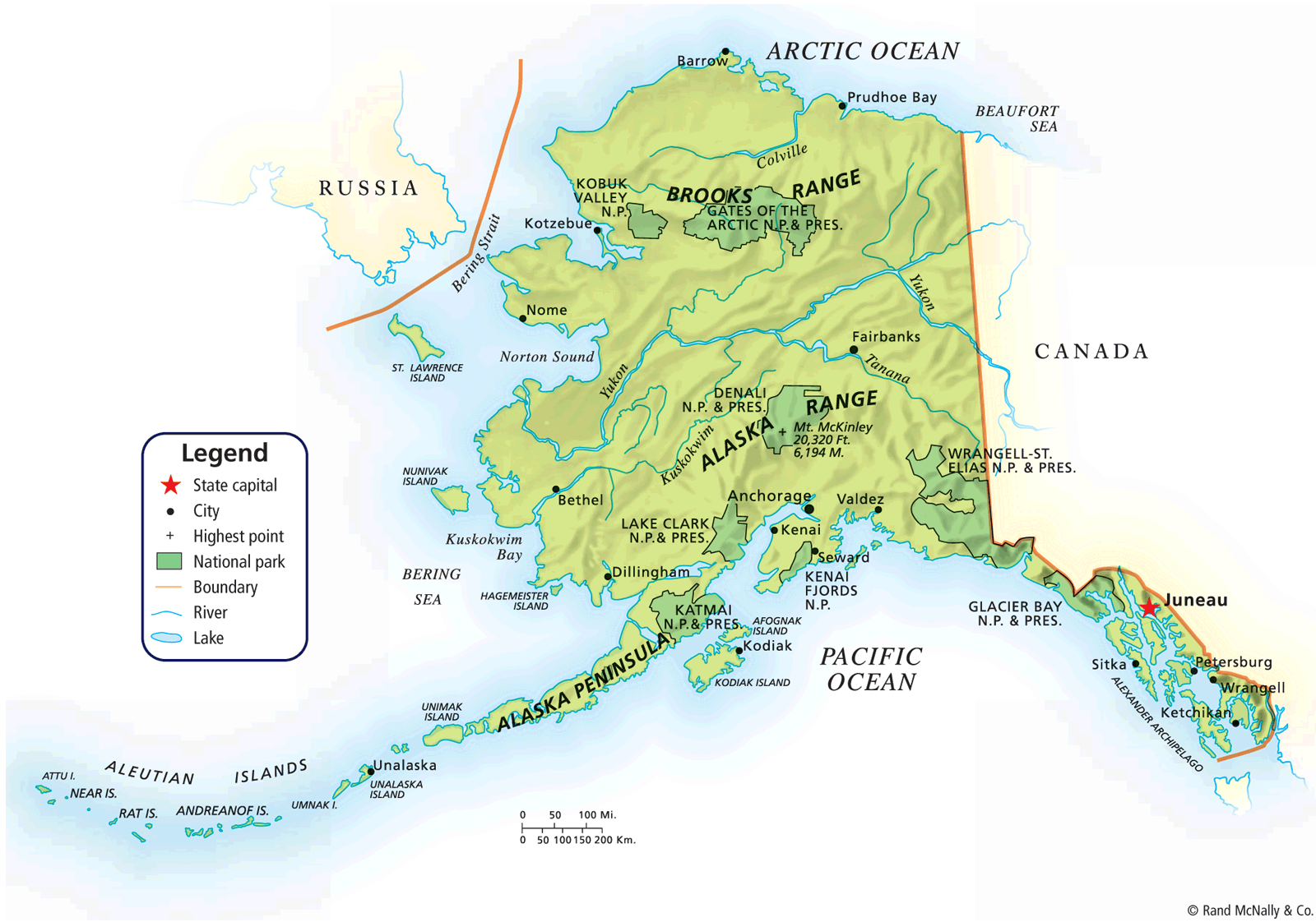 photograph about Printable Maps of Alaska named map of alaska alaska political map map resources print pdf