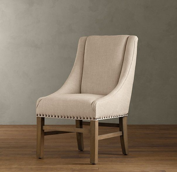 Nailhead Upholstered Dining Chair Ottoman Sleeper Pin By Decor Look Alikes On Restoration Hardware 399 Vs 299 95 Pier 1 Imports
