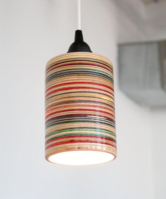 Skateboard Lamps recycled skateboard pendant lampscene3 on etsy | attic