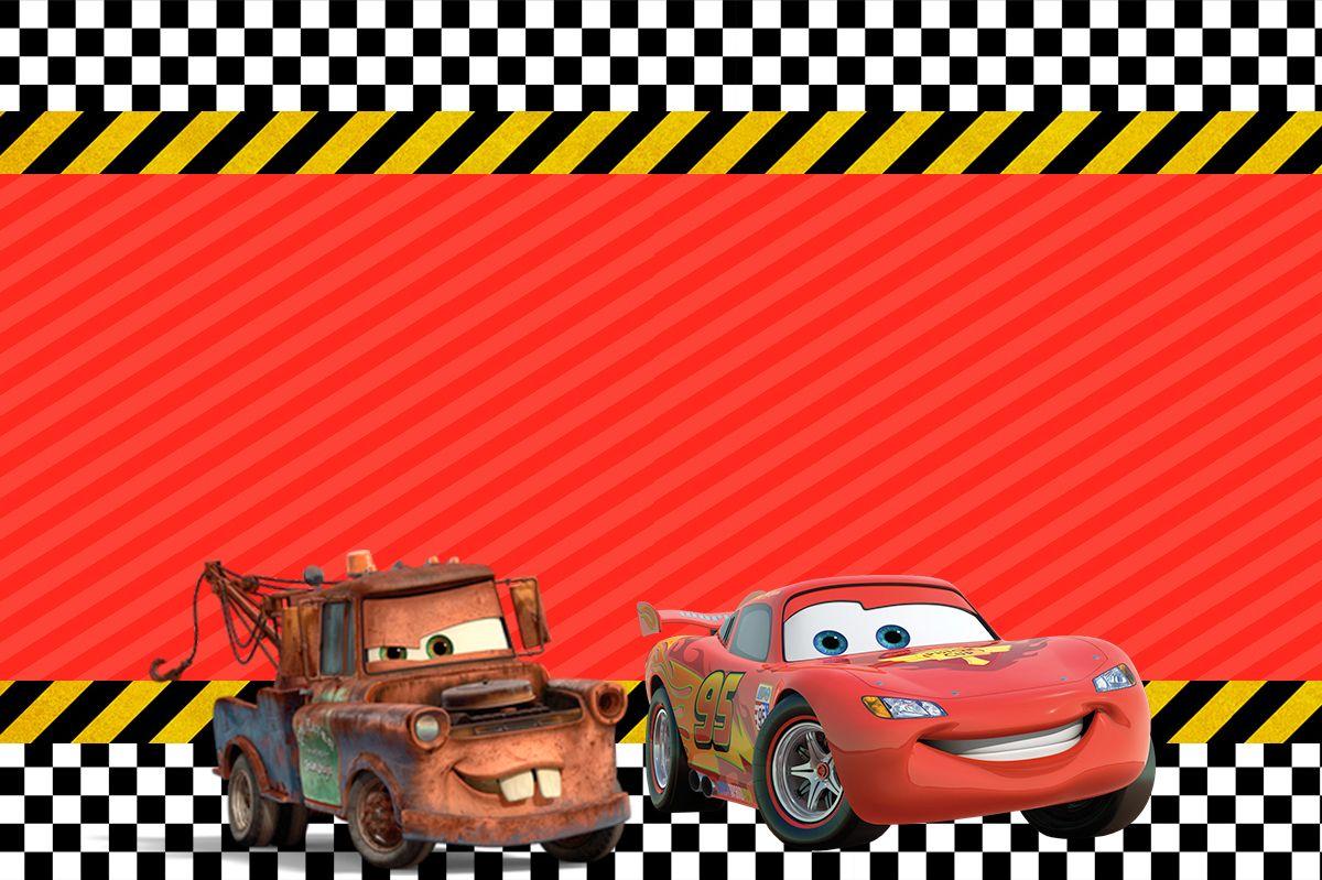 Convite Carros 2 Festa Carros Festa Carros Disney E Carros Da