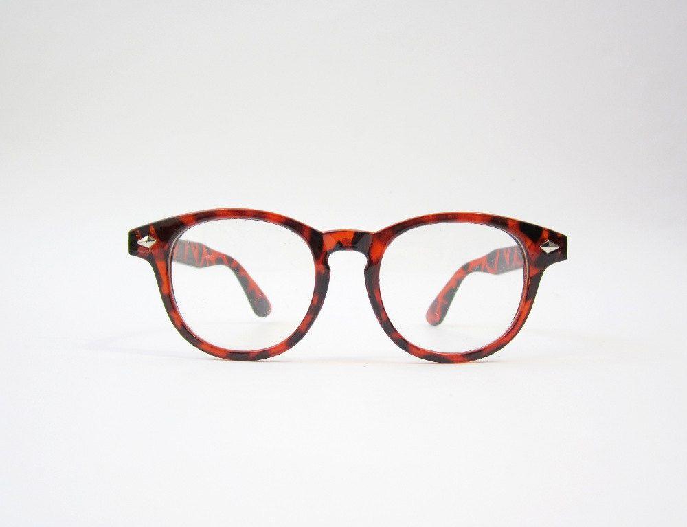Vintage Red Tortoiseshell Wayfarer Eyeglasses Frames Put