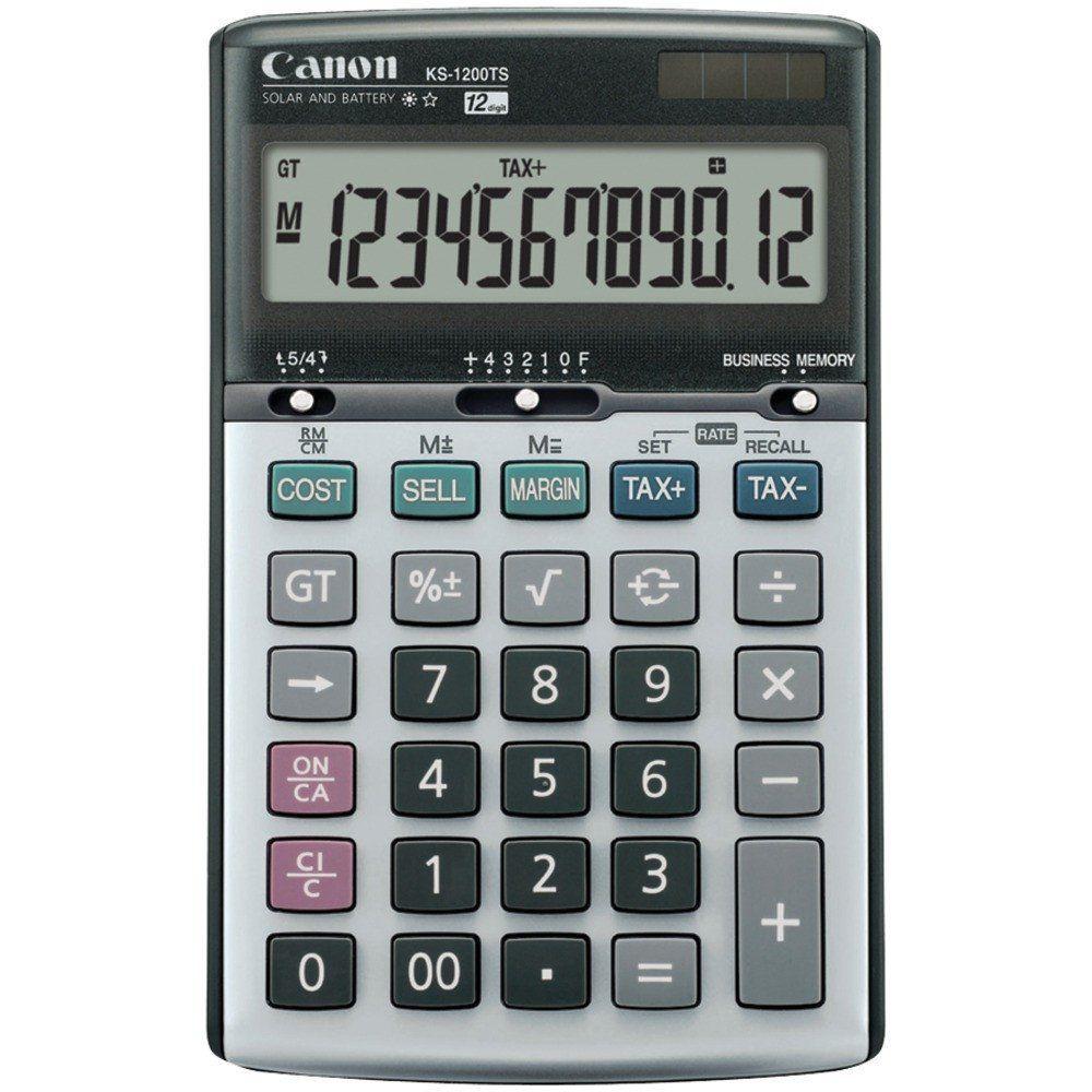 Canon Ks1200ts Solar & Batterypowered 12digit Calculator