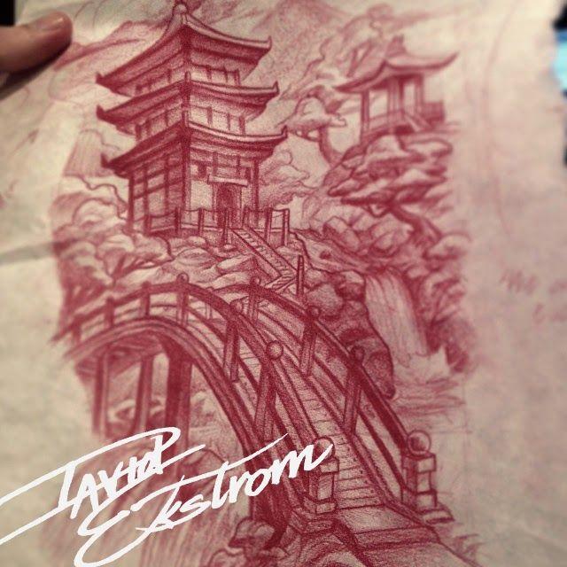 Classic Zen Garden Tattoo Design