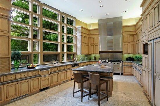 Chefs Kitchen with Sub-Zero Appliances and More---Love this kitchen's design!