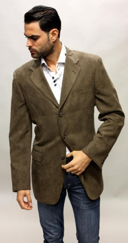 Check this out Sportcoat blazer for only US$89 ! Brown Sude Feel ...