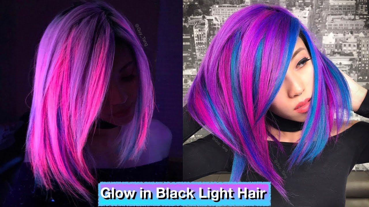 Glow In Black Light Hair Light Hair Hair Mermaid Hair