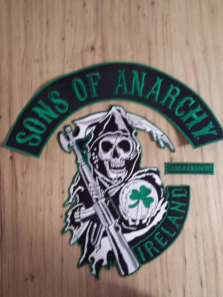 New IRISH ANARCHY MC embroidered PATCH