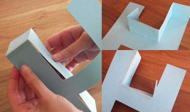 How To Make A 3d Letter Of Paper Letter Paper 3d Letters Cardboard Letters