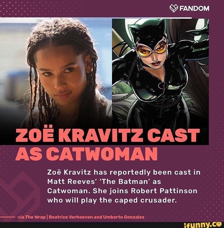 Zoiâ I(RAVITZ CAST As cATwoMAN Zoé Kravitz has reportedly