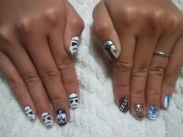 my STAR WARS Nail Art Tribute! :] #starwarstribute #starwars ...