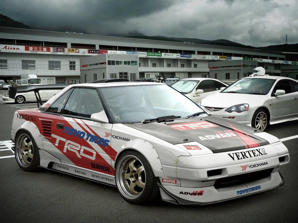What a gorgeous, agressive looking Toyota MR2 AW11 (via @7Tune