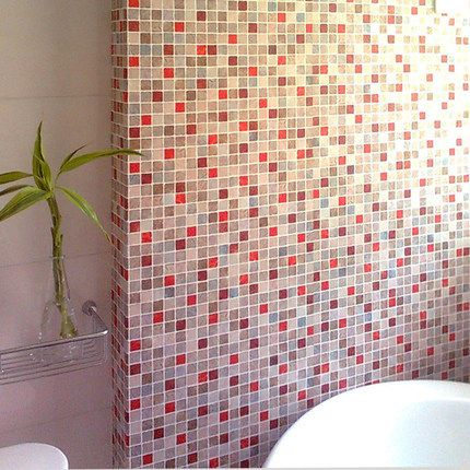 Online Shop 50x50cm 19 7x19 7in Self Adhesive Mosaic Wallpaper Pattern Bathroom Bathroom Wallpaper Waterproof Wall Stickers Wallpaper Patterned Bathroom Tiles