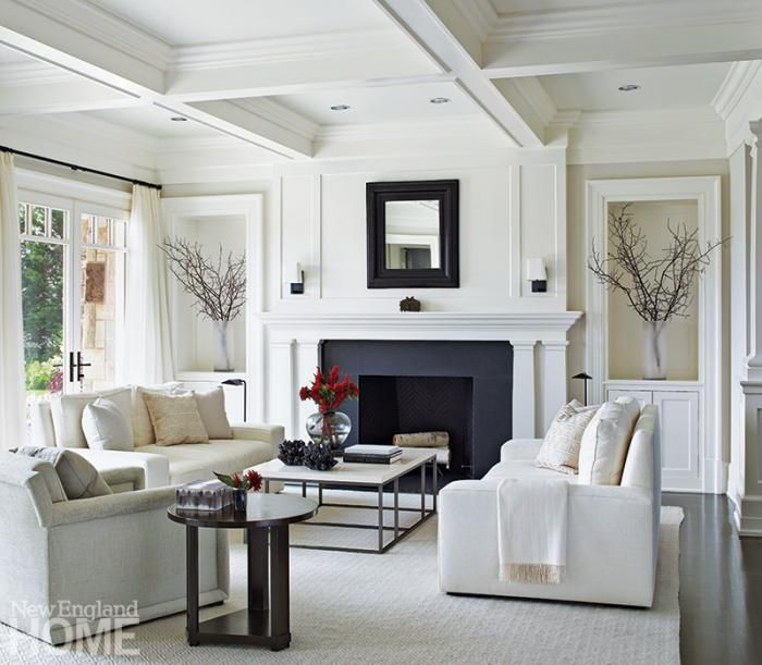 New Home Living Room Designs: House, Home Magazine, New England