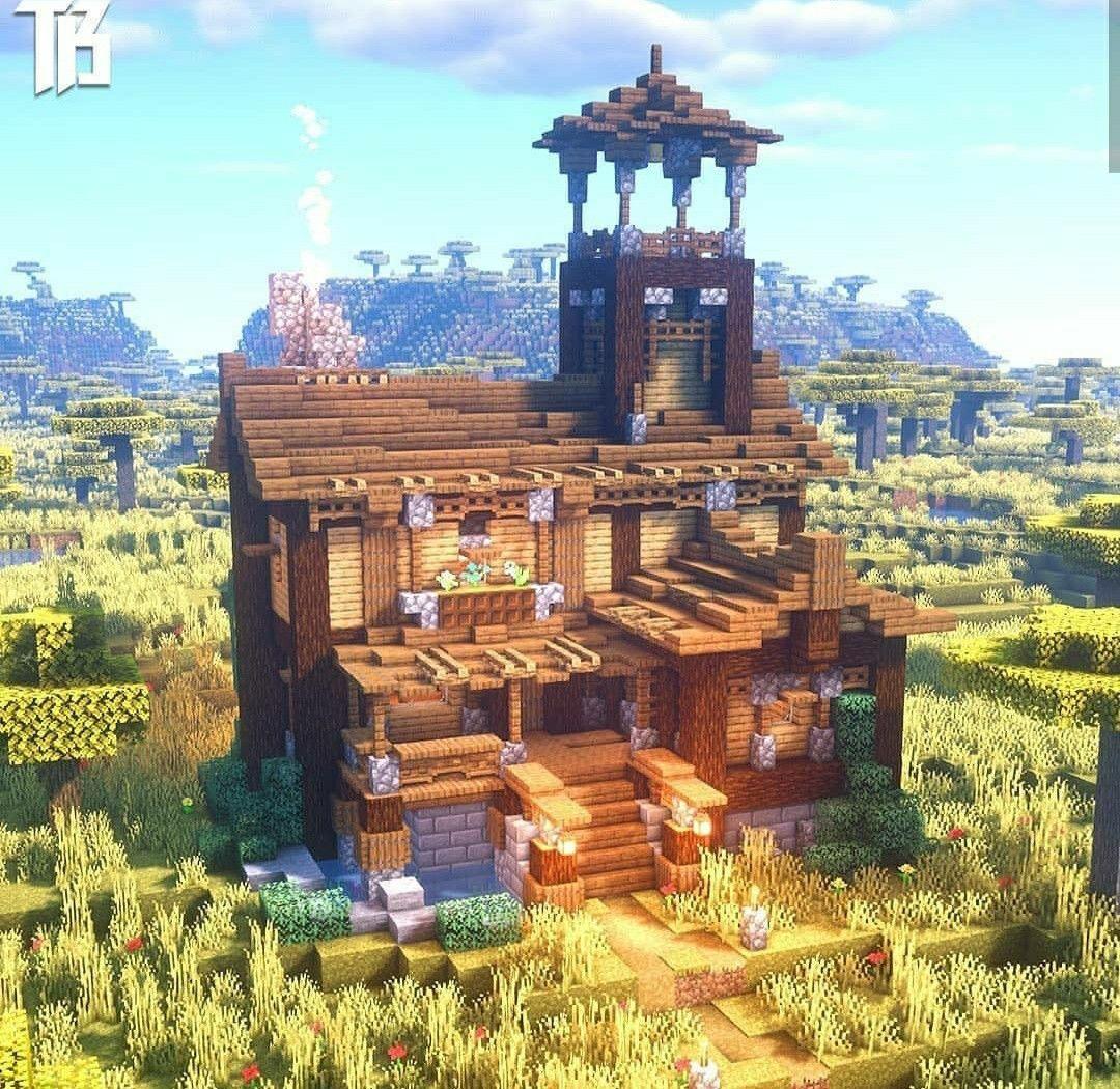 Minecraft Survival House In 2020 Cute Minecraft Houses Minecraft Structures Minecraft Blueprints