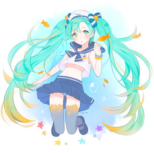 Marine Miku Hatsune Miku Hatsune Miku Hatsune Vocaloid