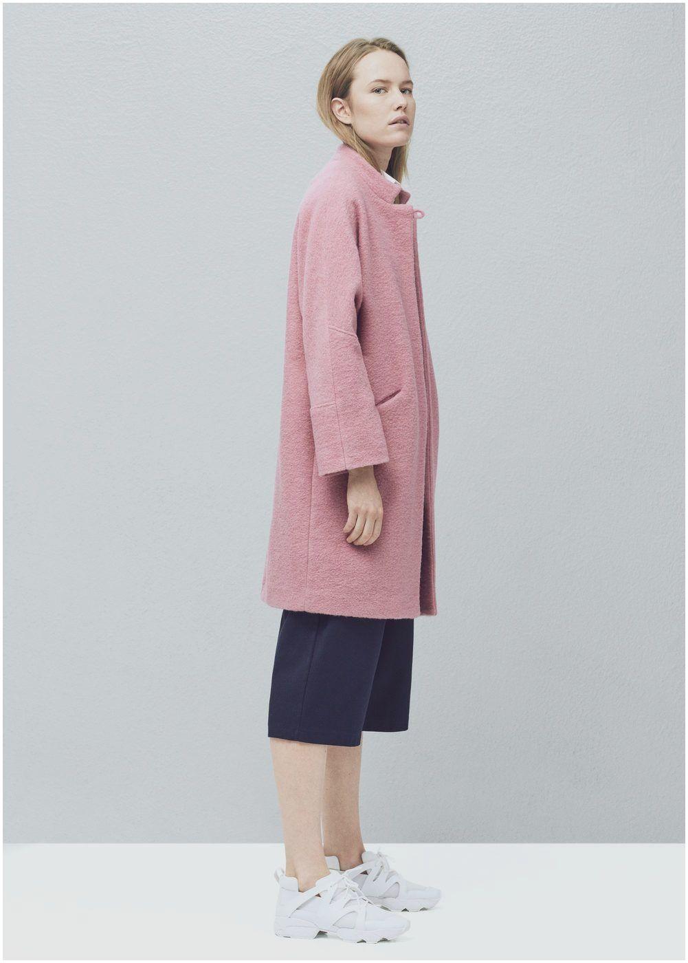 eff1f2c3dcd Abrigo lana oversize Mujer