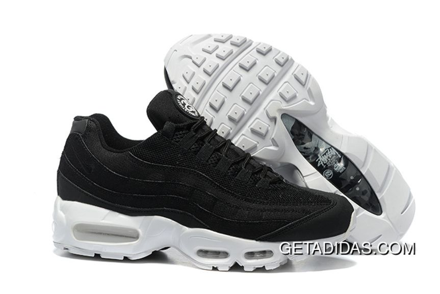 Stussy X Nike Air Max 95 Essential Mens Shoe White Grey